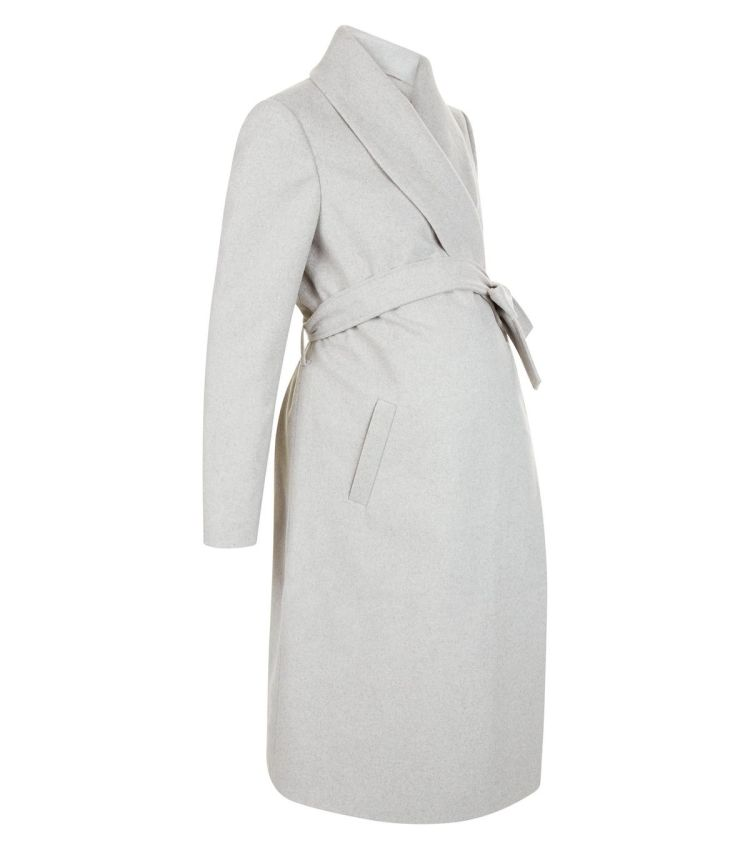 maternity-grey-belted-wrap-coat